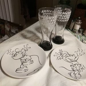 Glasses and plates